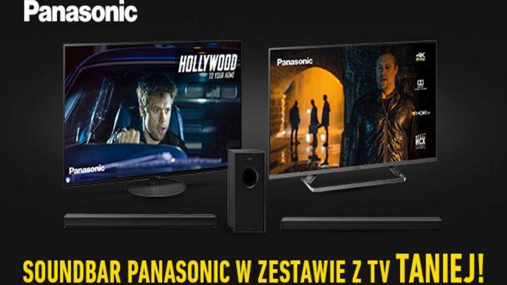 Promocja Panasonic w Media Expert: soundbar w zestawie z TV taniej